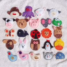 SALE+PICK+2+Assorted+Animal+Felt+Snap+Hair+Clips+by+twopunkypeas,+$8.99