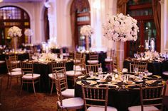 Great Gatsby Wedding Black White and Gold Wedding Houston Wedding at The Crystal Ballroom Stefano Choi Photography Lindsy Steinberg Events www.lindsysteinberg.com