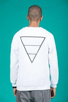 Knitted Sweatshirt (White)