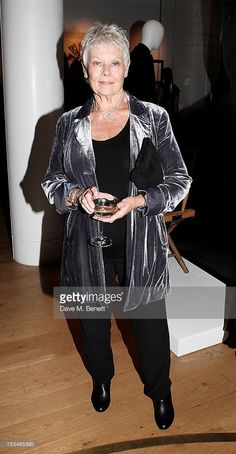 Dame Judi Dench attends '50 Years Of James Bond: The Auction', celebrating the 50th anniversary of the film franchise and the first screening of Dr. No, at Christie's South Kensington on October 5, 2012 in London, England.
