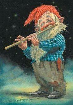 Pin fra Linda D. på Elves, Trolls, Gnomes and Faeries, etc. Christmas Illustration, Illustration Art, Kobold, Legends And Myths, Elves And Fairies, Arte Popular, Woodland Creatures, Fairy Art, Pics Art