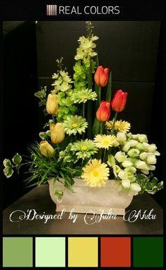 Spring arrangement by Julia Nutu at Michaels Store Cambridge ON