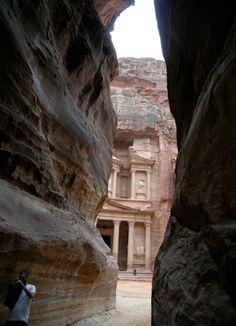 到聖戰奇兵的月牙峽谷和寶藏神廟-佩特拉