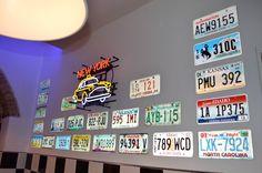 #arredo annni 50  #lusima #arredamento americano anni 50 #arredo vintage #www.americanstylelusima.it #neon #targhe americane