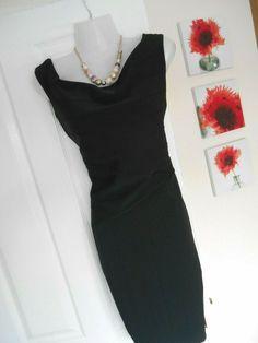 6591ddf333d4e BNWT JANE NORMAN SIZE 14 STUNNING BLACK BARDOT WIGGLE DRESS FAST POSTAGE  #fashion #clothing