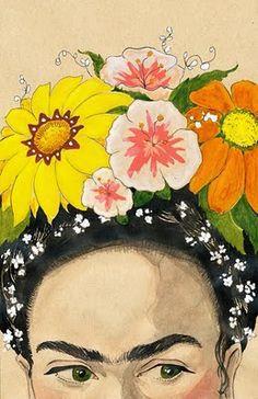 Portrait of Frida Kahlo by Tara Jacoby.