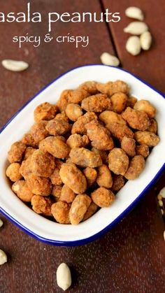 Spicy besan masala peanuts, crisp and tasty chickpea flour coated masala groundnuts Pakora Recipes, Chaat Recipe, Paratha Recipes, Masala Recipe, Peanut Recipes, Spicy Recipes, Curry Recipes, Cooking Recipes, Healthy Recipes