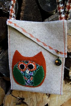 Purse made of heavy felted wool fabric with by CreeksideFibers, $18.00