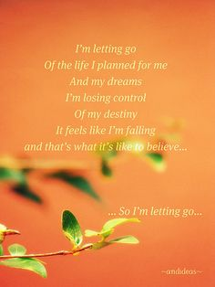 this is a giant leap of faith.. There's no turnin back!!!!!!!!! i'm letting go Francesca Battistelli