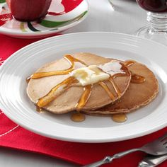 Holiday Spice Pancakes Recipe -With hints of clove, nutmeg, and cinnamon, these pancakes make every breakfast a holiday. This perfect blend of flavoring will spice up your morning any time of the year!—Cindy Fuller, Forest City, North Carolina