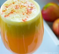 ginger apple lemon juice - careful with the ginger!!