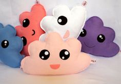 Cloud Baby Pillow  Light Pink Soft Toy Baby Gift by LilyRazz, $15.00