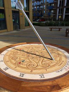 The Battle of Deptford Bridge Memorial Sundial by Gary Drostle