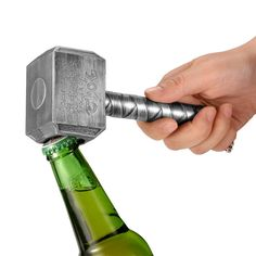 The Essential Thor hammer beer bottle opener. A must for every marvel fan of the Thor series. ultimate thor styling and quality gift fot that super fan. Vikings, Vegvisir, Beer Bottle Opener, Cool Bottle Openers, Thors Hammer, Business Gifts, Kitchen Gadgets, Kitchen Tools, Basic Kitchen