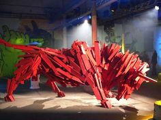 Gabor Miklos Szoke - There is something truly majestic about the work of Gabor Miklos Szoke, despite being made out of wooden slats. The Hungarian artist fashions large...