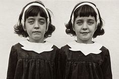 Iconic: Identical Twins, Roselle, NJ 1967, is among 46 works by Diane Arbus on show at National Museum Cardiff