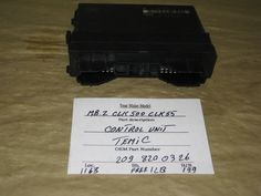 This Control Unit is for Mercedes Benz , Mercedes Benz CLK500 , Mercedes Benz CLK550 .Please compare the part number(s): 2098200326 , make sure to check with your local dealer before purchase it.