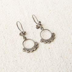 Circle Turquoise Earrings