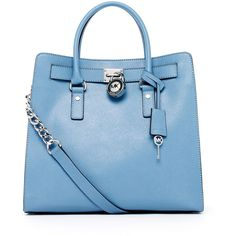MICHAEL Michael Kors Hamilton Large Tote, Surf Blue found on Polyvore - I got to have this purse and its my favorite color