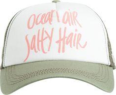 81e3ada1276 BILLABONG OCEAN AIR N HAIR TRUCKER HAT Cute Hats
