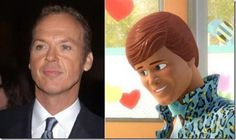 """Michael Keaton – Ken (""""Toy Story"""") Michael Keaton, Real Doll, Cartoon Movies, Voice Actor, Cool Cartoons, Disney Magic, Toy Story, The Voice, Celebrity"""
