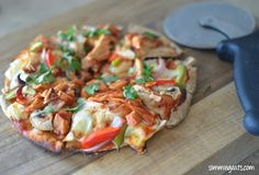 Barbecue Chicken Pita Pizza | Slimming Eats - Slimming World Recipes