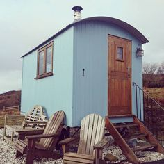Leaving our Shepherd huts on Skye today. Best B&B ever! by rubycycles Shepherds Hut Holidays, Best B, Double Beds, Tiny Homes, Bed And Breakfast, Country Style, Cosy, Shed, Outdoor Structures