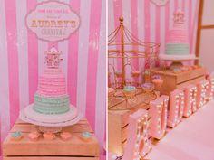 Audrey's Vintage Pastel Carnival Birthday Party - One Charming Day Vintage Pastel Carnival Party – 09 Carousel Party, Carousel Birthday, Circus Birthday, 2nd Birthday, Carnival Themed Party, Carnival Birthday Parties, Circus Party, Birthday Party Themes, Birthday Ideas