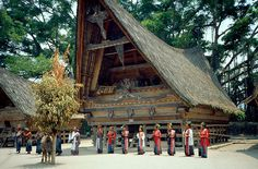 North Sumatra traditional house and costume.