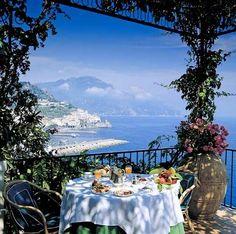 Breakfast time on the Amalfi Coast.