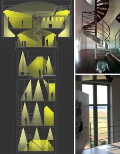 Water Tower to House Modification- Inside....No elevator, that would get old.  Cool house though!