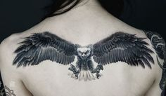 #eagle #tattoo on the back