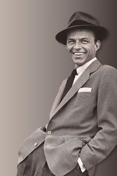 Frank Sinatra is such a badass--I love when men wear hats!