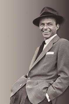 Frank Sinatra is such a badass--I love when men wear hats!