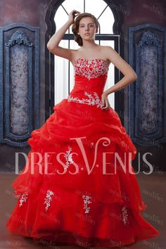 Elegant Ball Dress Strapless Floor-length Anita's Quinceanera/Ball Gown Dress