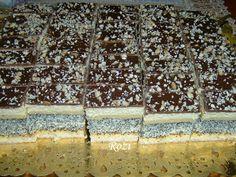 Hozzávalók a mézeslapokhoz : 30 dkg liszt 5 dkg margarin 10 dkg porcukor . Cake Bars, Poppies, Desserts, Food, Deserts, Poppy, Dessert, Meals, Yemek