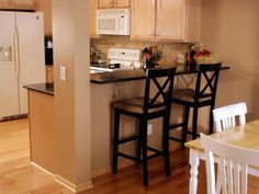 Follow these steps from DIYNetwork.com to build a raised bar in your kitchen.