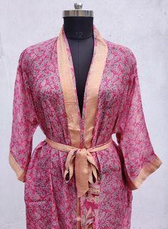 Silk Kimono Robe, Cotton Kimono, Floral Kimono, Cotton Bag, Silk Jacket, Cotton Jacket, Bridesmaid Robes, Bridesmaids, Coats For Women