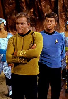 Captain Kirk and Doctor McCoy.  They don't make 'em like they used to.