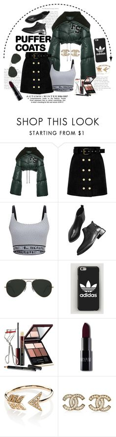 """""""The in crowd"""" by bich-what ❤ liked on Polyvore featuring Puma, Ray-Ban, Kevyn Aucoin, EF Collection and Chanel"""