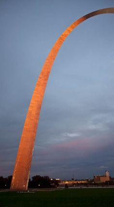 Gateway #Arch in St. Louis Missouri, sunset #STL (My work, A. B. Brown)