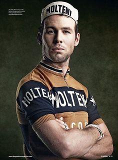 Hola soy Mark Cavendish pero me visto de Eddy Merckx, soy sprinter, con ese…