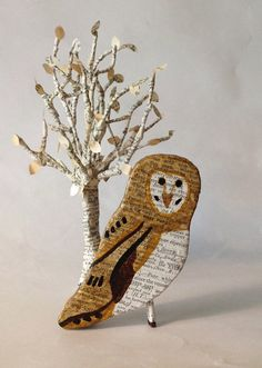 Owl Paper Sculpture