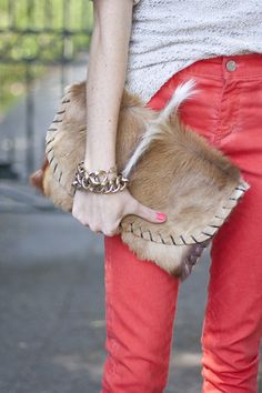"""The """"Sam"""" Clutch by Emily Rosendahl Coral Jeans, Into The West, Best Handbags, Leather Projects, Cowgirl Style, New Bag, Mode Style, Colored Jeans, Everyday Fashion"""