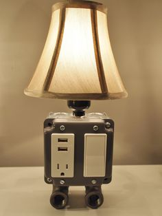 Vintage style table or desk lamp with USB charging by BossLamps, $109.00