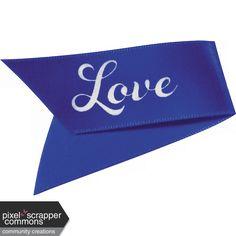 Kitty Love Element - Ribbon Flag