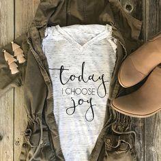 Today I Choose Joy Tee / Christian Shirt/ Jesus Shirt/ Faith Shirt/ Christian Tee Christian Tees, Jesus Shirts, Choose Joy, Graphic Tees, Graphic T Shirts