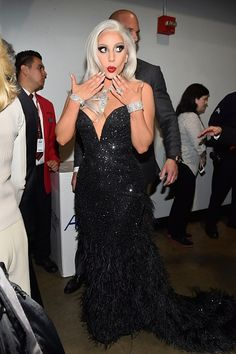 57th GRAMMYs Backstage - Lady Gaga - Lady Gagabackstage at the 57th Annual GRAMMY Awards on Feb. 8 in Los Angeles