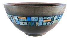 Fauxpal bowl. Cynthia Tinapple's fauxpal inlays and her husband's hand turned walnut bowl.