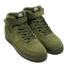 NIKE AIR FORCE 1 MID '07 (Nike air force 1 mid 07) LEGION GREEN/LEGION GREEN-WHITE 17SP-I